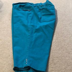Teal Turquoise Bermuda Shorts Size 2X 22/24W